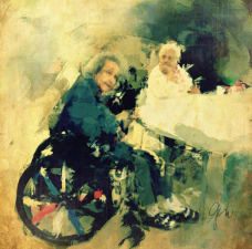 © Geri Centonze – 'Woman with Decorated Wheelchair' – ProCamera, Artist's Touch, Sketch Club, PS Express, Iris Photo Suite, Pic Grunger